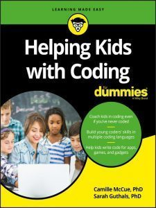 Cover for Helping Kids with Coding for Dummies by Camille McCue PHD