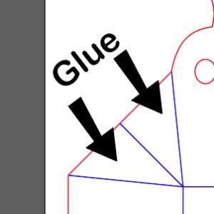 explanation on where to glue